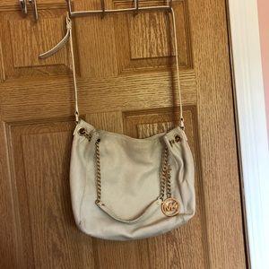 Michael Kors Ivory Chain Bag